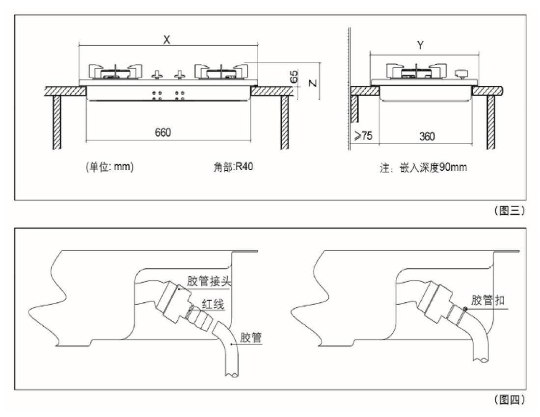 方太JZY/T/R-FD22BE安装示意图