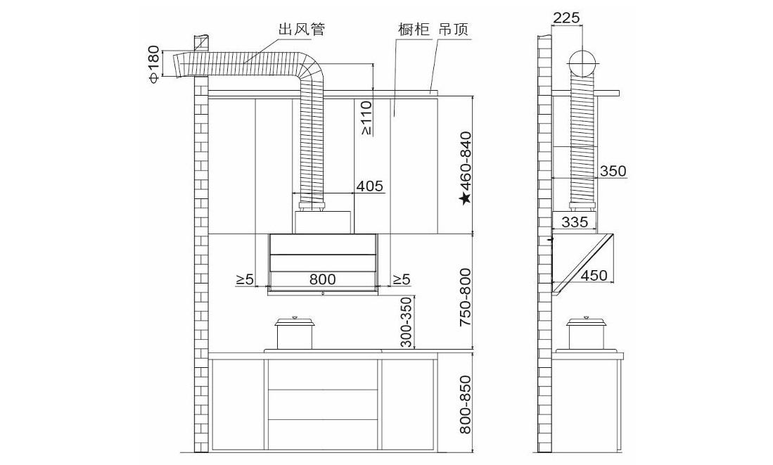 方太CXW-228-JQD3T安装示意图