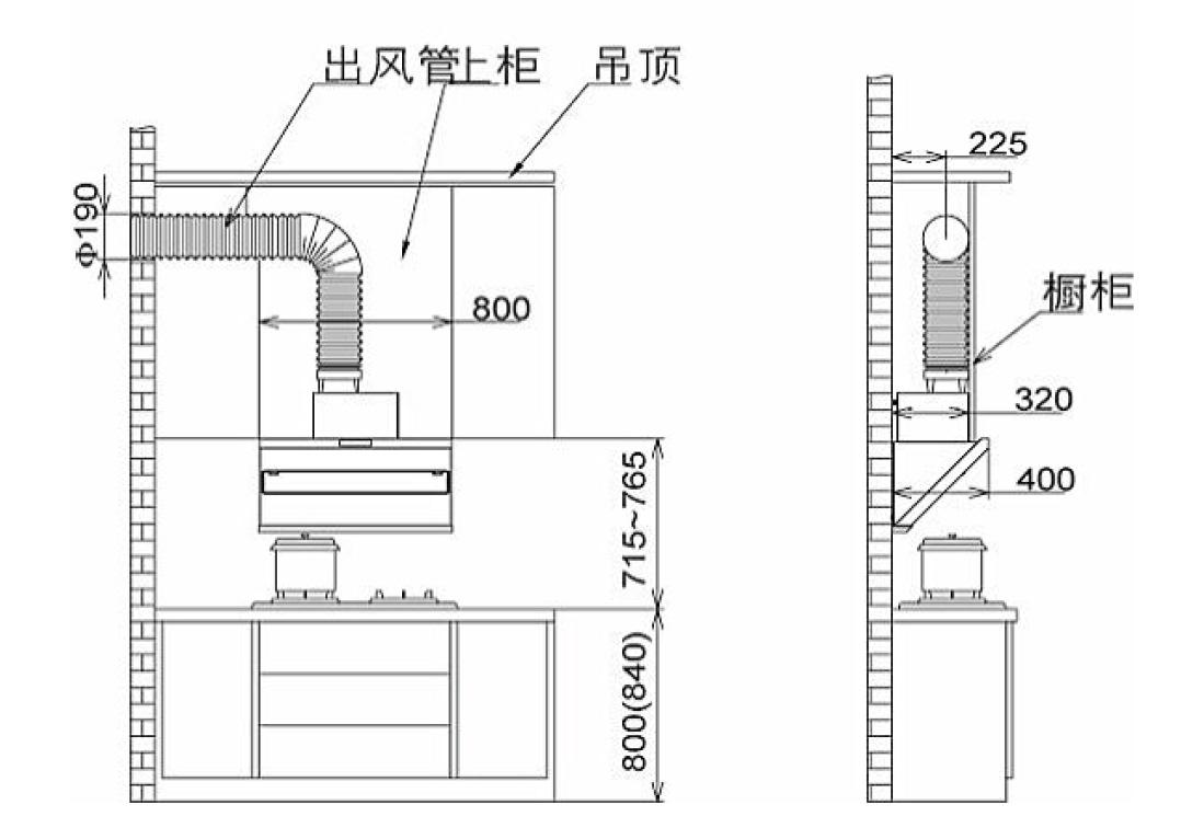 方太CXW-200-JQ29TS安装示意图