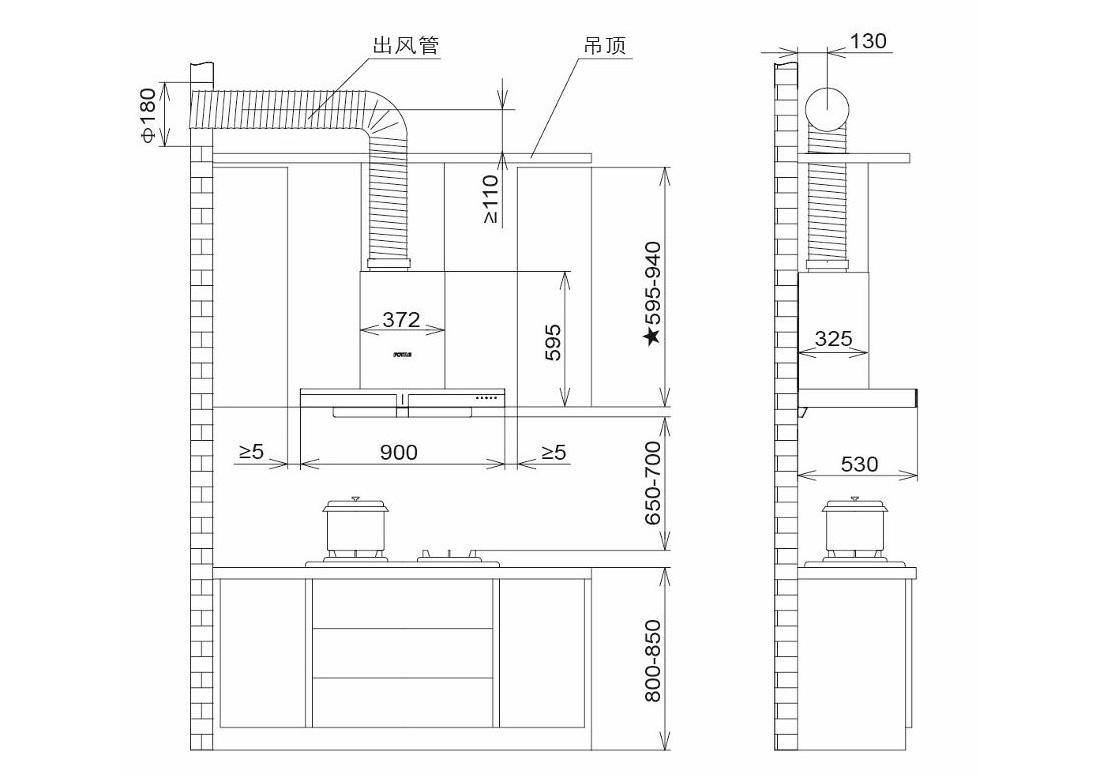 方太CXW-200-EM23TS安装示意图