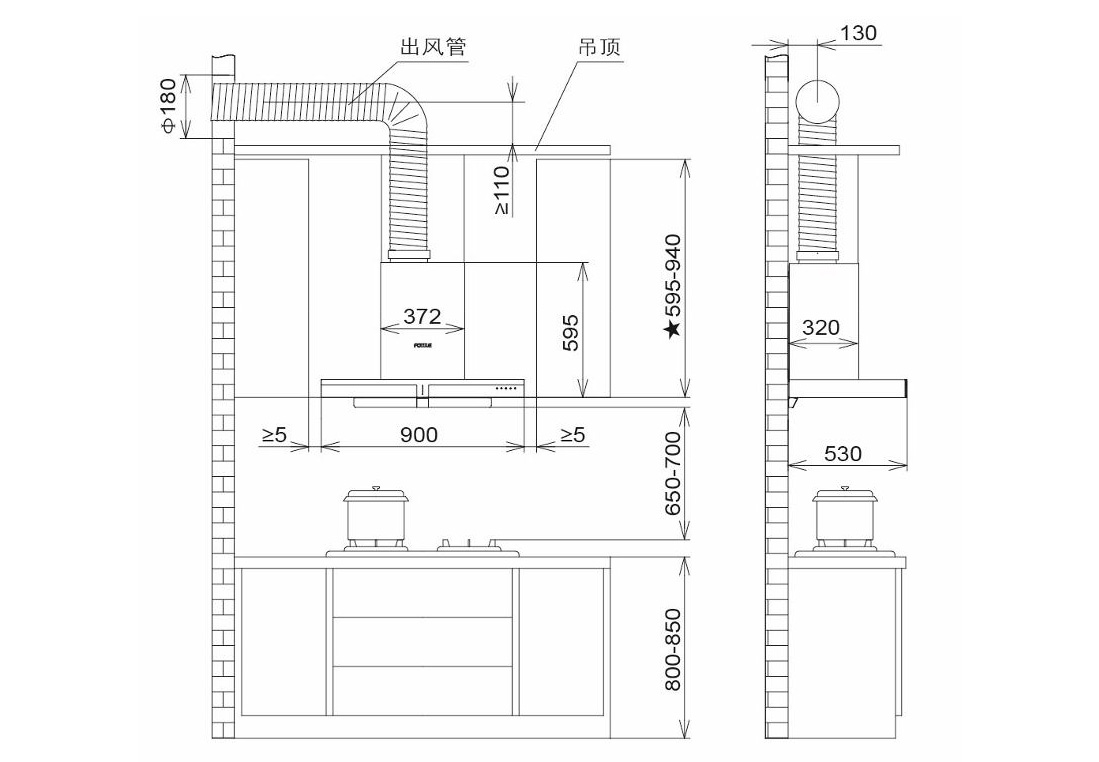 方太CXW-200-EM71T安装示意图
