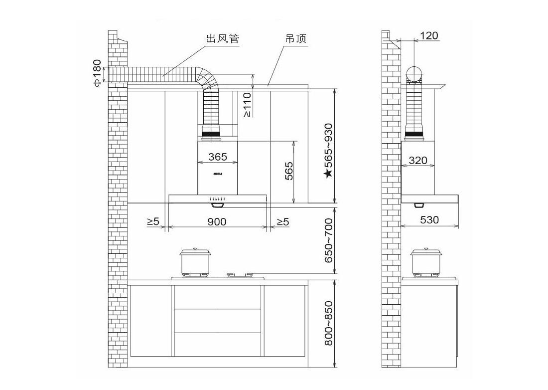 方太CXW-200-EN55E安装示意图