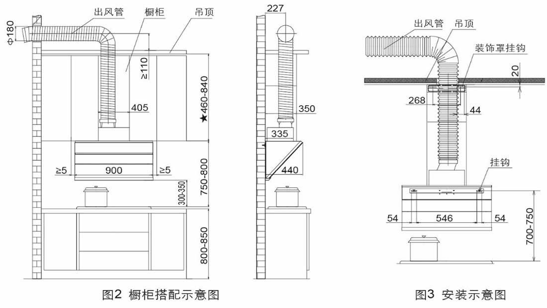 方太CXW-258-JQ01TB安装示意图