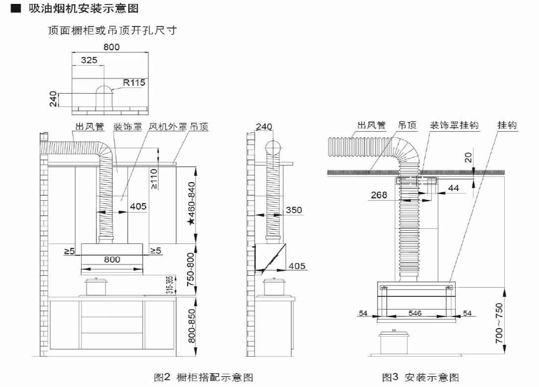 方太CXW-258-JQ32安装示意图