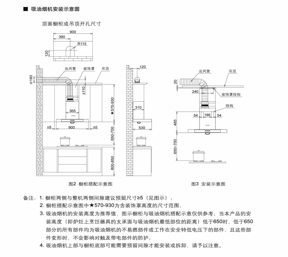 方太CXW-200-EG09安装示意图
