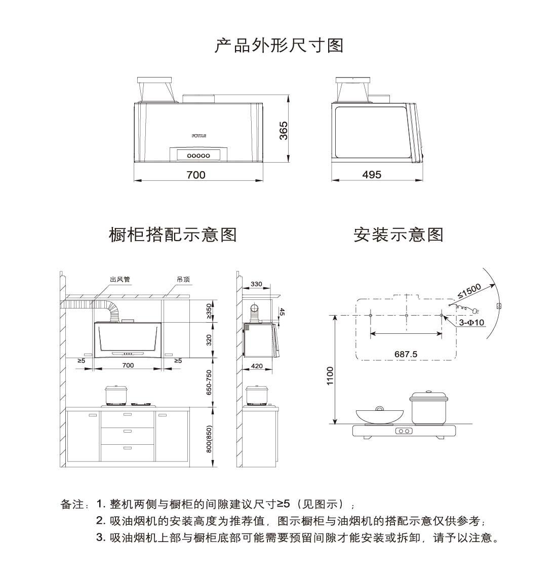 方太CXW-175-SY09G安装示意图
