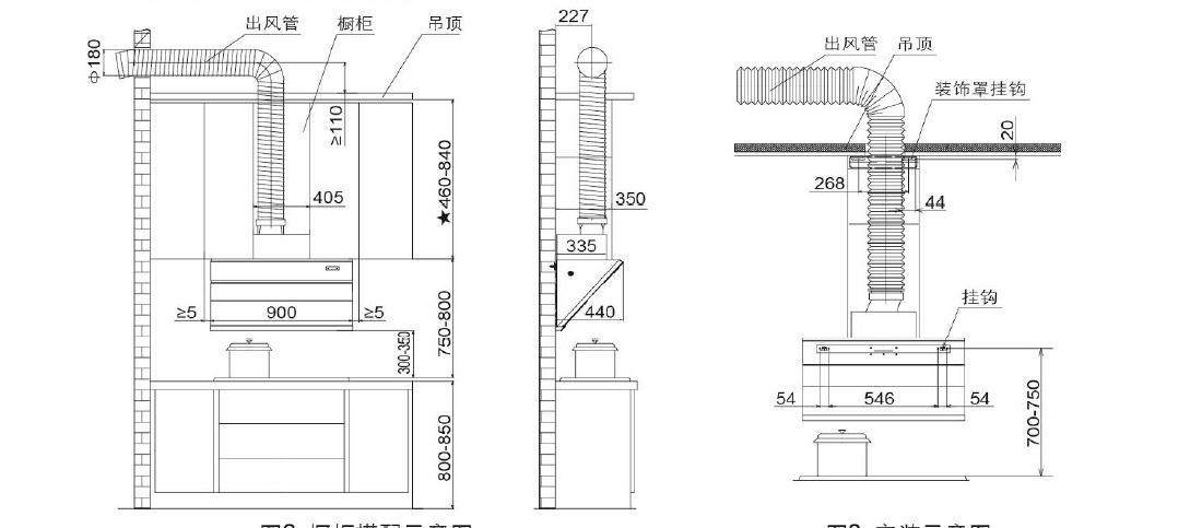 方太CXW-258-JQ01TC安装示意图
