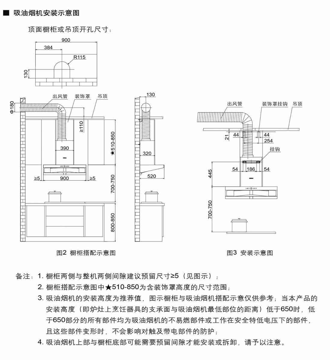 方太CXW-200-EM16T安装示意图