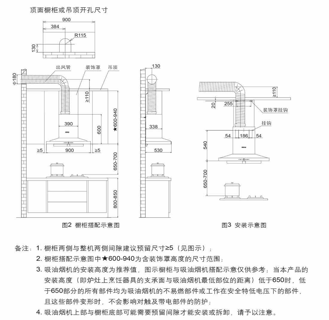 方太CXW-200-EM71T.S安装示意图